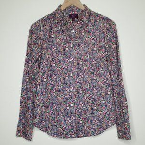 J Crew Liberty Art Fabrics Floral Print Button Up